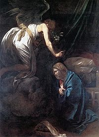 200px-Caravaggio_-_The_Annunciation