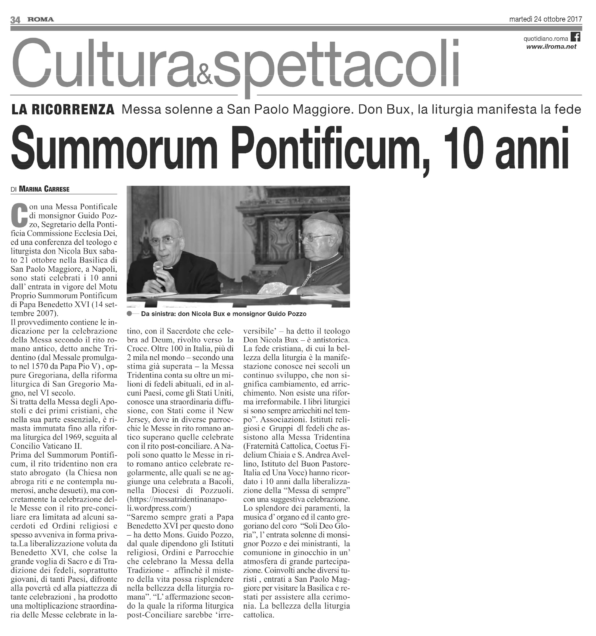 Rito Matrimonio Romano Antico : Pontificale in rito romano antico a napoli resoconto del