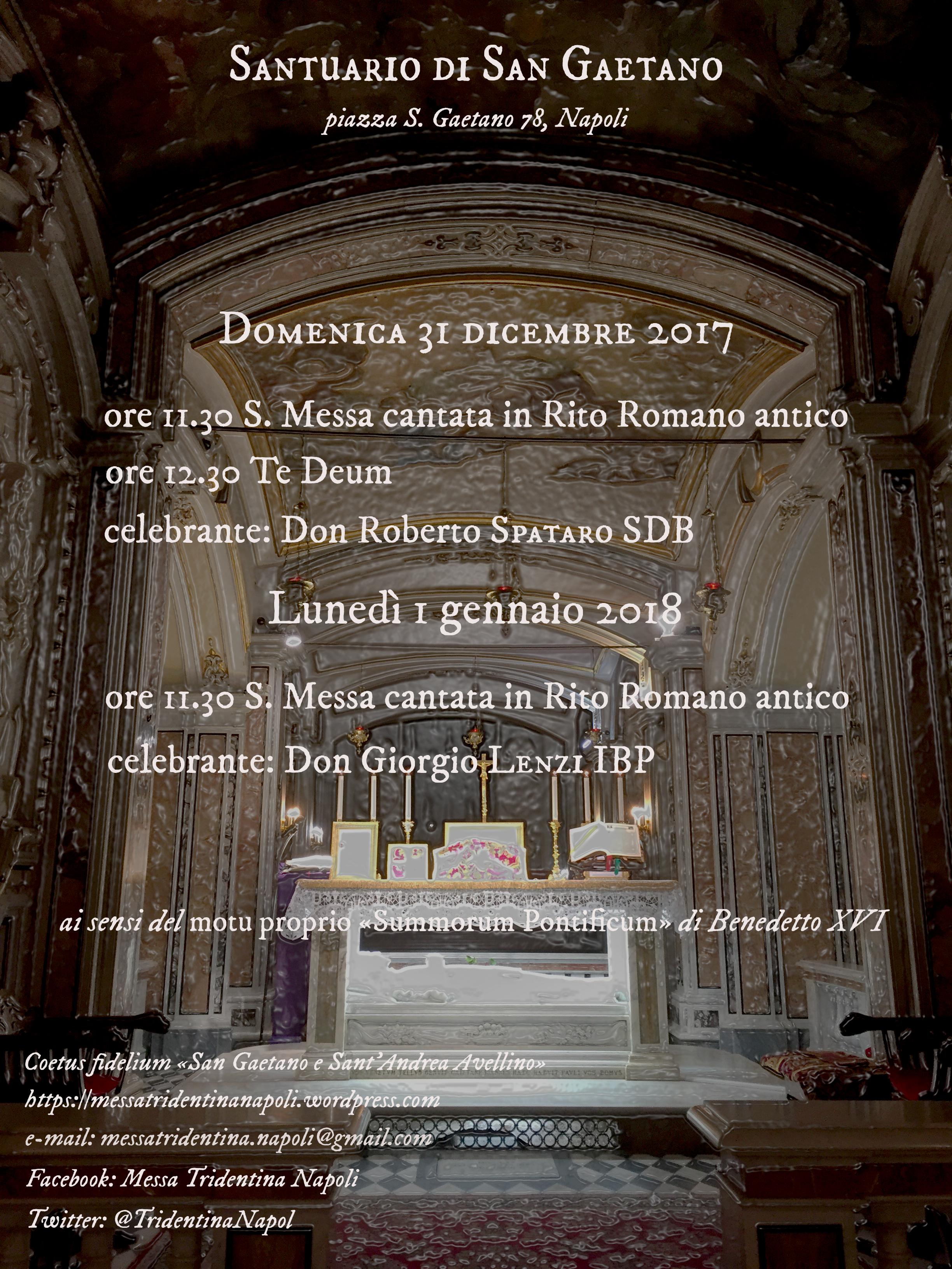 Rito Matrimonio Romano Antico : Napoli ss messe in rito romano antico dicembre