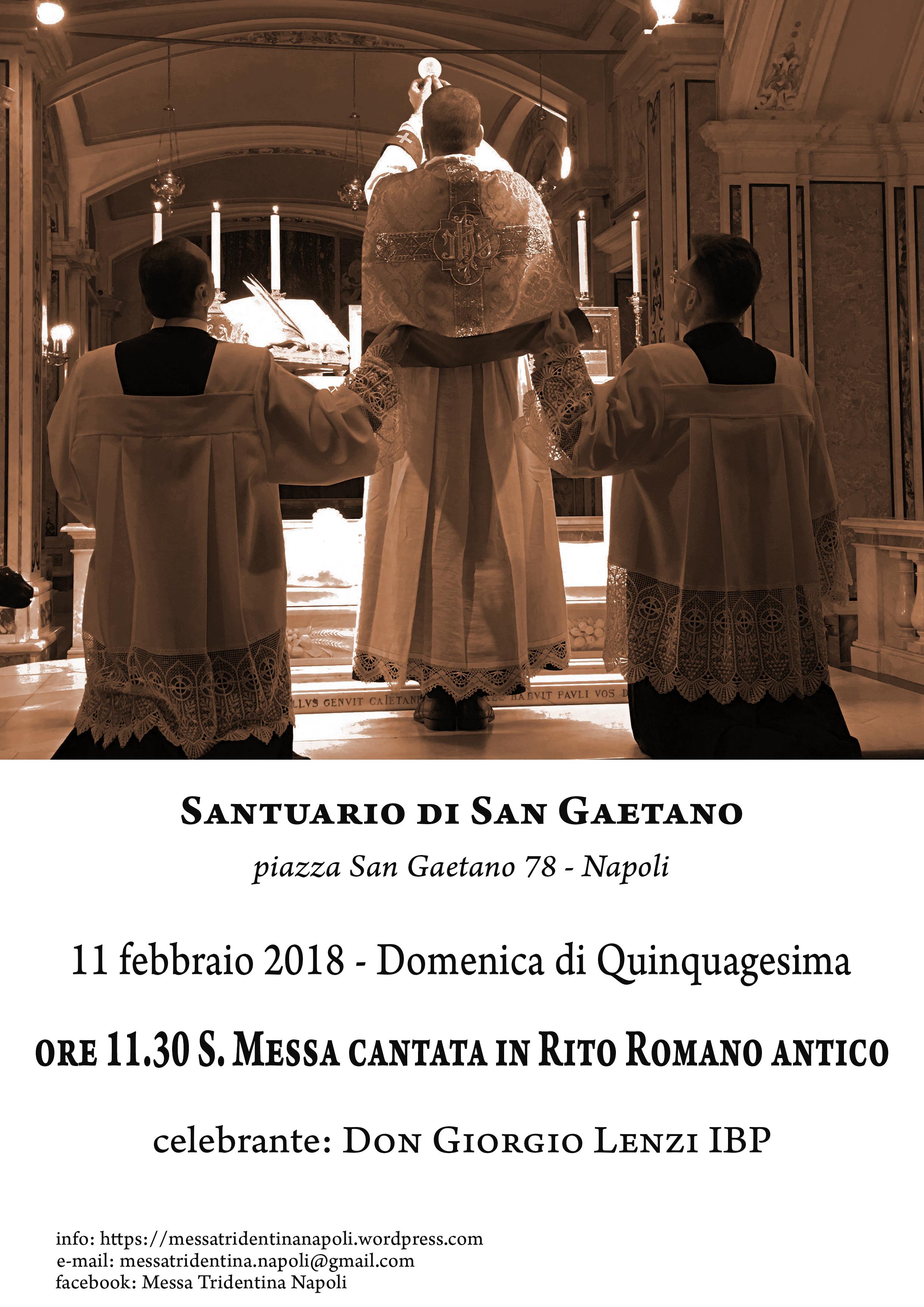 Rito Matrimonio Romano Antico : Napoli febbraio domenica di quinquagesima s